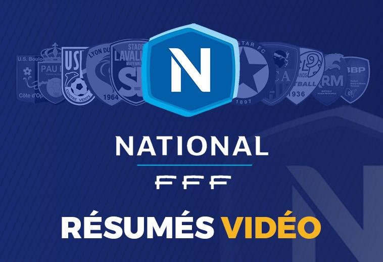 Résumés vidéo du championnat de National